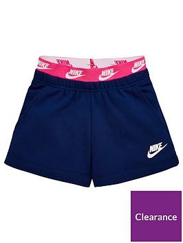 nike-sportswear-younger-girls-shorts-blue
