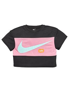 Nike Nike Younger Girls Cropped Training T-Shirt - Black Picture