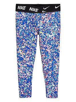 Nike Nike Younger Girls Jdi Regrind Printed Dri-Fit Leggings - Blue Picture