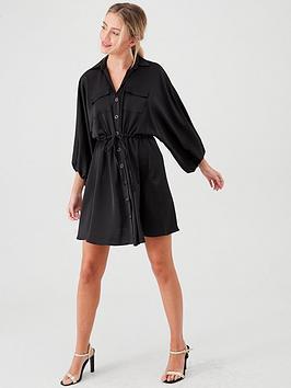river-island-satin-shirt-dress--black
