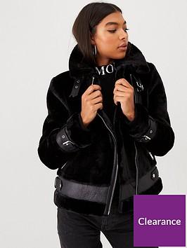 river-island-river-island-faux-shearling-aviator-jacket-black