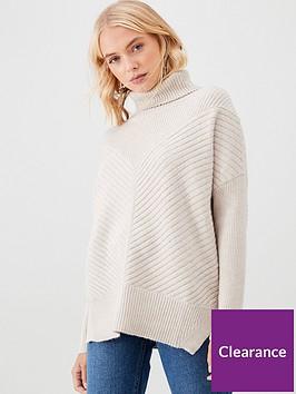 river-island-river-island-knitted-rib-roll-neck-jumper--beige