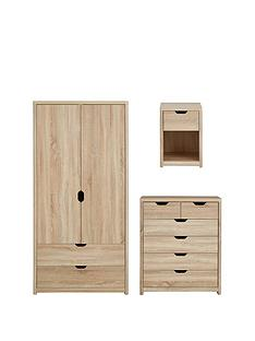aspen-3-piece-package-2-door-2-drawer-wardrobe-4-2-chest-and-bedside-chest-oak-effect