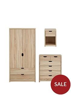 aspen-3-piece-package-2-door-2-drawer-wardrobe-4-2-chest-and-bedside-chest-oak-effect