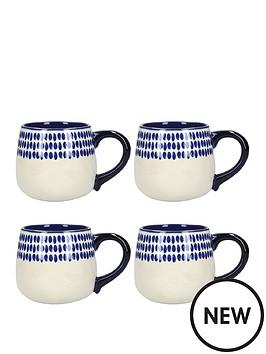 kitchencraft-mikasa-azores-spot-mug-set-of-4