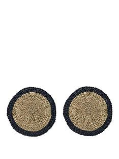 creative-tops-naturals-woven-grass-placemats-in-blue-ndash-set-of-2