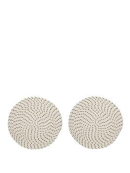 Creative Tops Creative Tops Naturals Rope Effect Round Placemats Picture