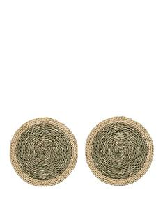 creative-tops-naturals-woven-grass-placemats-in-green-ndash-set-of-2