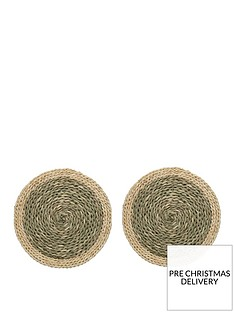 creative-tops-naturals-woven-grass-placemats-in-green-ndash-set-of-2