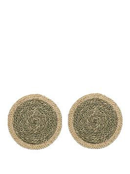 Creative Tops Creative Tops Naturals Woven Grass Placemats In Green  ... Picture