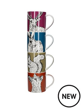 kitchencraft-into-the-wild-set-of-4-stacking-mugs