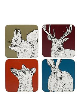 kitchencraft-into-the-wild-pack-of-4-premium-coasters