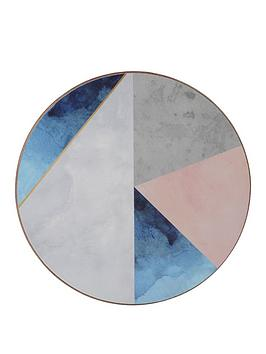 Product photograph showing Creative Tops Geometric Palette Round Premium Coasters - Pack Of 4