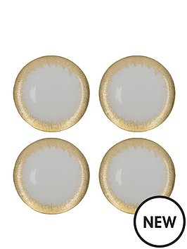 kitchencraft-mikasa-gold-burst-charger-plate-set-of-4