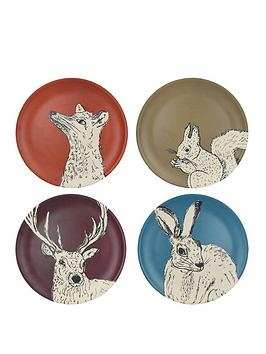Kitchencraft Kitchencraft Into The Wild Set Of 4 Bamboo Fibre Dinner Plates Picture