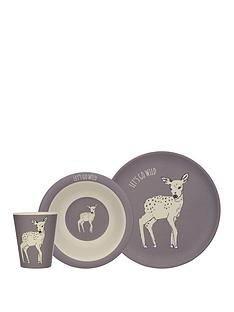 kitchencraft-nbspinto-the-wild-little-explorers-deer-3-piece-kids-dining-set
