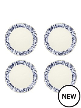 kitchencraft-mikasa-azores-speckle-dinner-plate-set-of-4