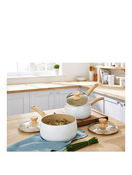 Tower Tower Scandi 3-Piece Saucepan Set &Ndash; White Picture