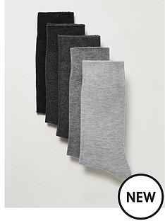 topman-topman-5-pack-socks-grey