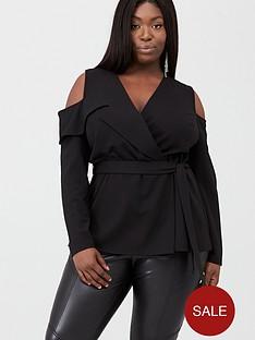 v-by-very-curve-cold-shoulder-top-black