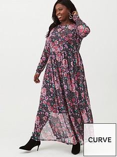v-by-very-curve-mesh-maxi-dress-floral-printnbsp