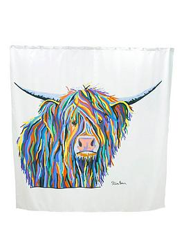 Croydex Croydex Steven Brown Angus Mcmoo Shower Curtain Picture