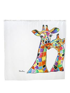 Croydex Croydex Steven Brown Francie And Josie Mczoo Shower Curtain Picture
