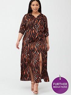 ax-paris-curve-zebra-printed-maxi-shirt-dress-print