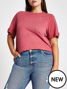 ri-plus-turn-up-sleeve-t-shirt--pink