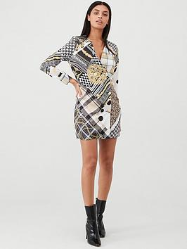 River Island River Island River Island Scarf Print Shirt Dress- Brown Picture