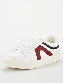 V by Very V By Very Amelia Side Stripe Trainer - White Picture