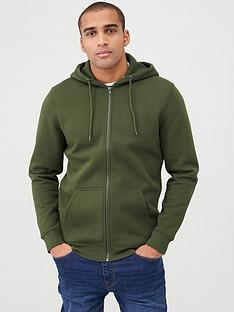 v-by-very-zip-through-hoodie-green