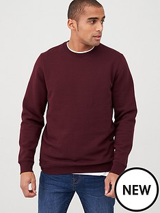 v-by-very-crew-neck-sweatshirt-brown