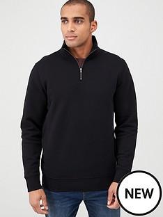 v-by-very-quarter-zip-funnel-neck-black