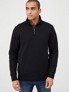 V by Very V By Very Quarter Zip Funnel Neck - Black Picture