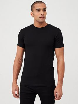 V by Very V By Very Muscle Fit Tee - Black Picture