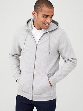 V by Very V By Very Zip Through Hoody - Grey Marl Picture