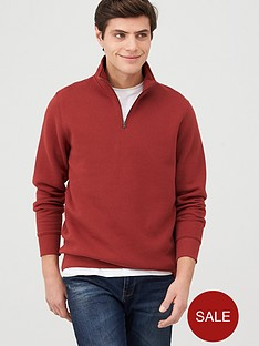 v-by-very-quarter-zip-funnel-neck-hoodie-burgundy