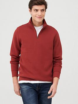 V by Very V By Very Quarter Zip Funnel Neck Hoodie - Burgundy Picture