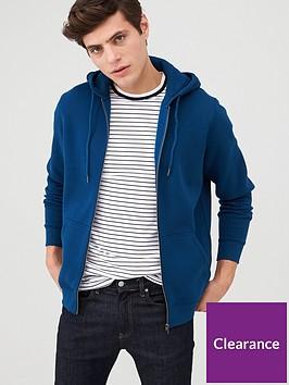 very-man-zip-through-hoodie-deep-blue
