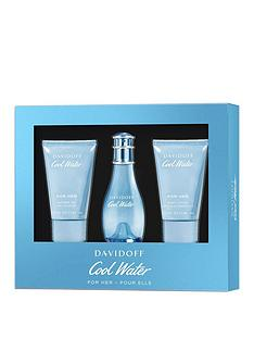davidoff-davidoff-cool-water-woman-30ml-eau-de-toilette-50ml-shower-gel-50ml-body-lotion-gift-set