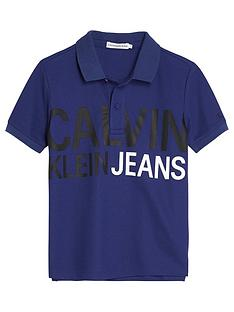 calvin-klein-jeans-boys-stamp-logo-short-sleeve-polo-top-blue