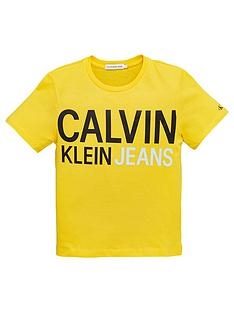 calvin-klein-jeans-boys-stamp-logo-short-sleeve-t-shirt-yellow