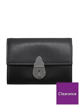 calvin-klein-lock-trifold-bag-black