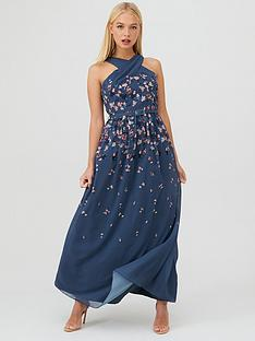 little-mistress-floral-print-belted-maxi-dress-teal