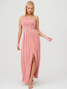 little-mistress-one-shoulder-lace-embellished-bridesmaid-dress-pink
