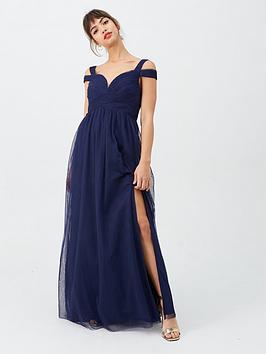 little-mistress-bridesmaid-cold-shoulder-maxi-dress-navy