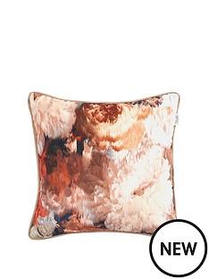 floral-print-cushion-orange