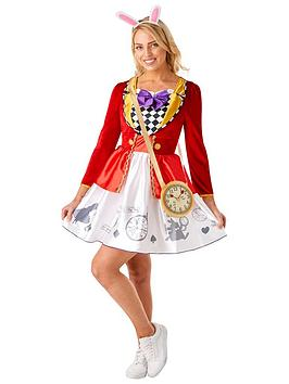 Very Disney Ladies White Rabbit Costume Picture