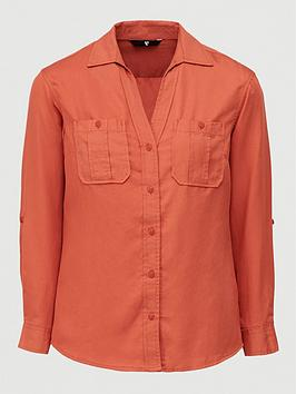 V by Very V By Very Essential Utility Shirt - Rust Picture